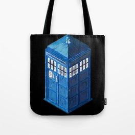 8 Bit Tardis Tote Bag