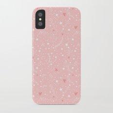 Pink stars iPhone X Slim Case