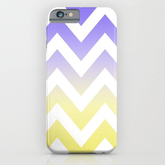 BLUE & YELLOW CHEVRON FADE iPhone & iPod Case