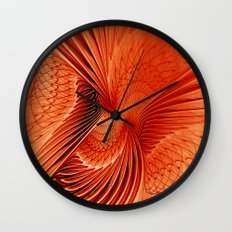 fractal fall colors Wall Clock