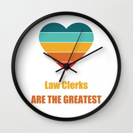 Funny Retro Vintage Mask for Law Clerks Wall Clock