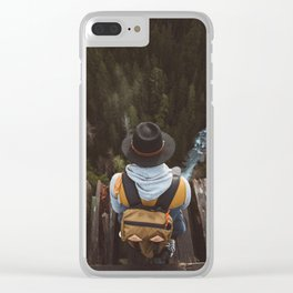 Vance Creek Bridge Clear iPhone Case