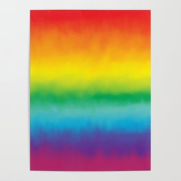 Watercolor Rainbow Poster