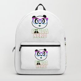 Panda Nerd Girl - Rainbow Backpack
