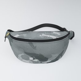PPG Night Watch Pewter Green Splatters Watercolor Camo Pattern Fanny Pack