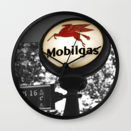 Gas Mobil History photography Wall Clock