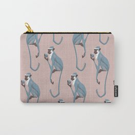 Vervet monkey with pomegranate Carry-All Pouch