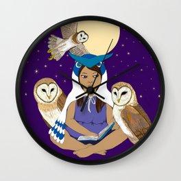 Owl Girl Wall Clock