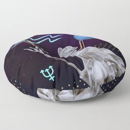 Ancient Gods and Planets: Neptune Floor Pillow