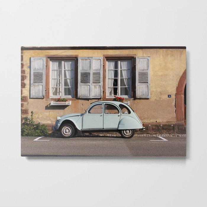 Vintage Car, Rustic Home Metal Print