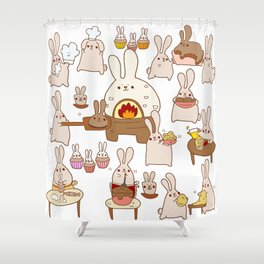 Baking buns Shower Curtain