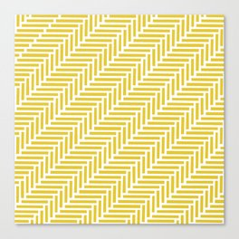 Herringbone 45 Yellow Canvas Print