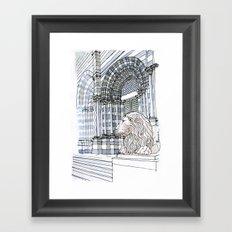 Il leone di S.Lorenzo (genova) Framed Art Print