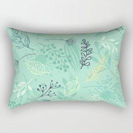 Pattern Beautiful flowers Rectangular Pillow
