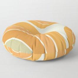 Mid Century Mod arcs Floor Pillow