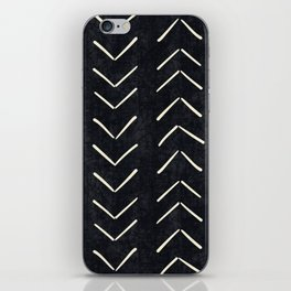 Mudcloth Big Arrows in Black and White iPhone Skin