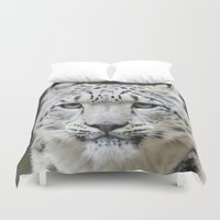 leopard Duvet Covers featuring Leopard by WonderfulDreamPicture