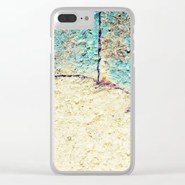 Cracked Stone Clear iPhone Case