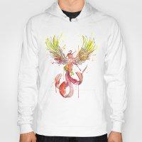 phoenix Hoodies featuring Phoenix by Simona Borstnar