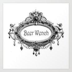 Beer Wench Art Print