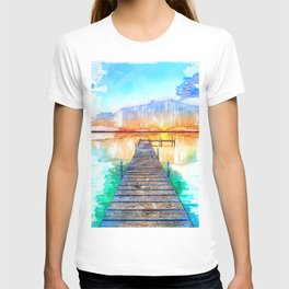 Wisconsin USA Lake Jetty - Jetties Around The World T-shirt