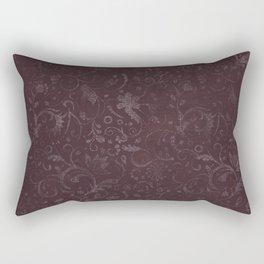 Romantic Red Flowers Rectangular Pillow