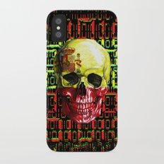 digital Skull (flag of spain) iPhone X Slim Case