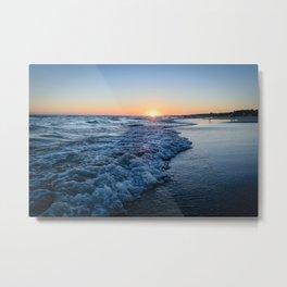 Sunset at the beach in 'Atlántida, Uruguay' Metal Print