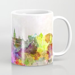 Dundee skyline in watercolor background Coffee Mug