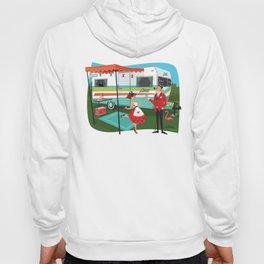 Happy Campers Vintage Travel Trailers, Caravans, Campers and Glamping Art Hoody