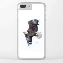 Eagle soaring Clear iPhone Case