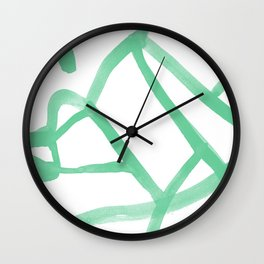 Abstract Map green Nr.2 Wall Clock