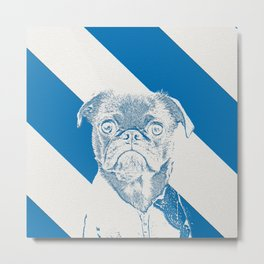 French Bully Metal Print