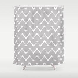 Jute in Grey Shower Curtain