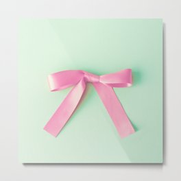 Hot Pink Ribbon Metal Print