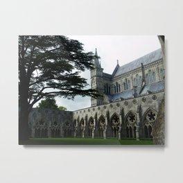 Salisbury Cathedral Courtyard Metal Print