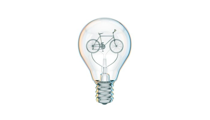 Light Bicycle Bulb Pillow Sham