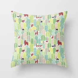 Welcome to the forest! Throw Pillow