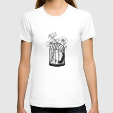 The Loner SMALL White Womens Fitted Tee
