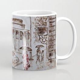 waiting in red #2 Coffee Mug