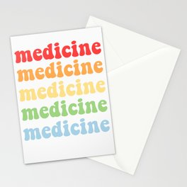 retro medicine Stationery Cards