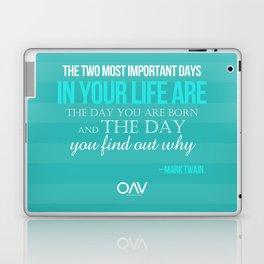 LIFE QUOTE - Mark Twain Laptop & iPad Skin