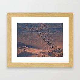 A Conversation With Snow #2 Framed Art Print