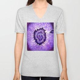 Purple Agate Geode Unisex V-Neck