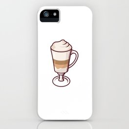 Latte With Foam iPhone Case