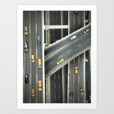 New york highways Art Print