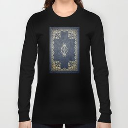 Gilded Gold and Blue Book Long Sleeve T-shirt