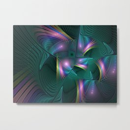 United, Colorful Abstract Fractal Art Metal Print