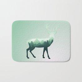 Deer Stag Elk Roe Fawn Moose Double Exposure Surreal Wildlife Animal Bath Mat