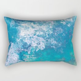 The Ocean from Above Rectangular Pillow